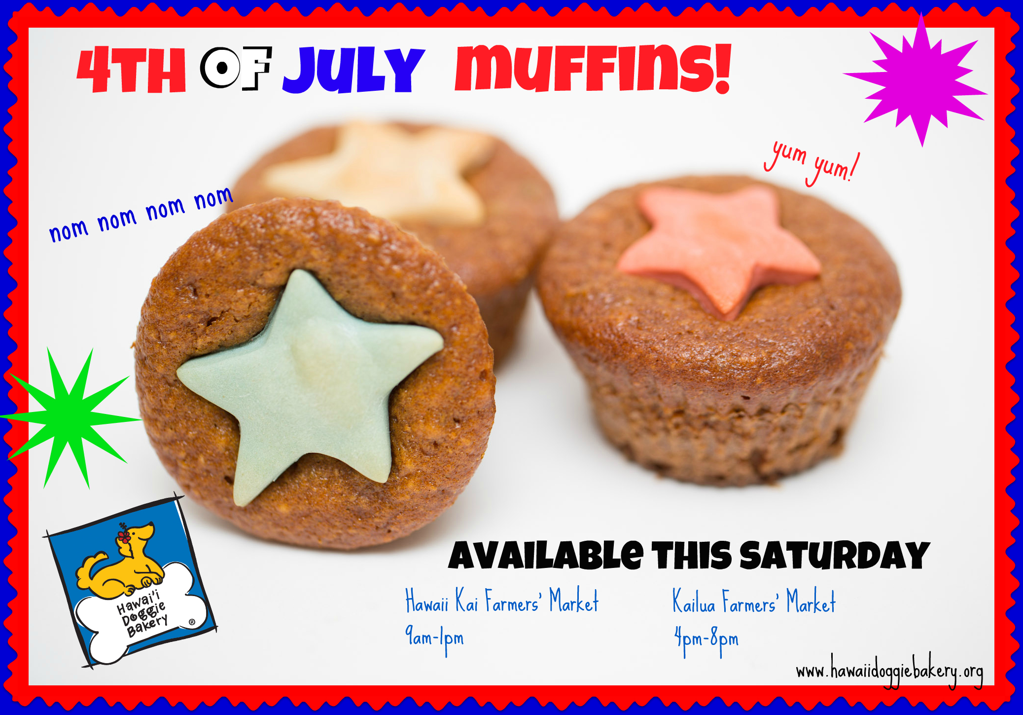 4th of July Muffins! June 30th & July 7!