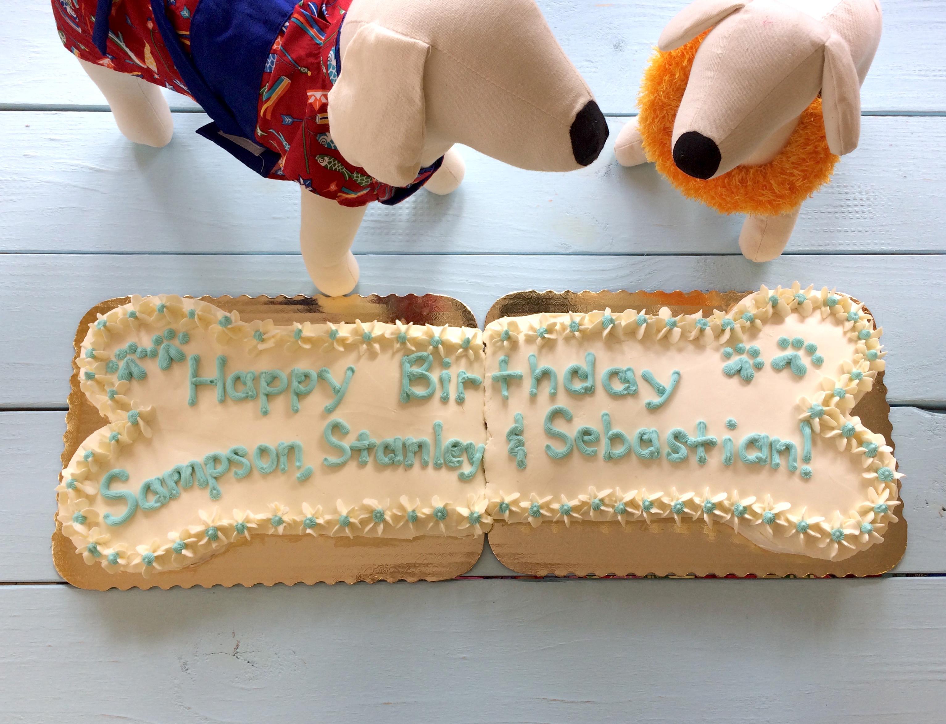 Specialty Cakes: GIANT Bone Paw-ty Cake!
