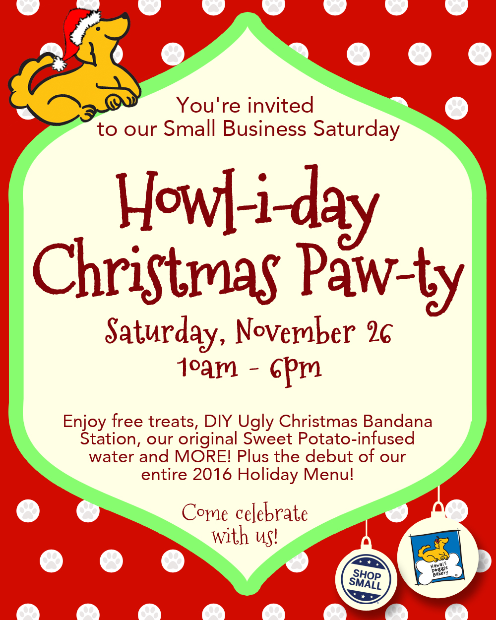 Nov 26: Howl-i-day Christmas Paw-ty: A Small Business Saturday ...