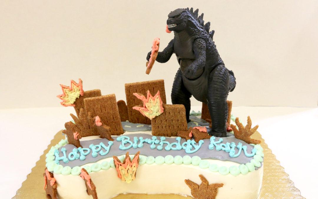 Our favorite creation: Kaiju's Godzilla Cakes!